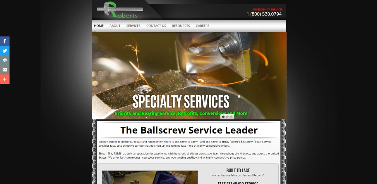 Robert's Ballscrew Repair Services Inc.